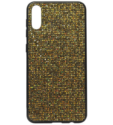 ADEL Siliconen Back Cover Softcase Hoesje voor Samsung Galaxy A50(s)/ A30s - Bling Bling Goud