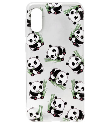 ADEL Siliconen Back Cover Softcase Hoesje voor Samsung Galaxy A50(s)/ A30s - Panda's