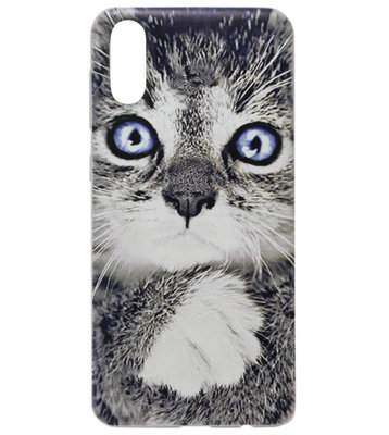 ADEL Siliconen Back Cover Softcase Hoesje voor Samsung Galaxy A70(s) - Katten