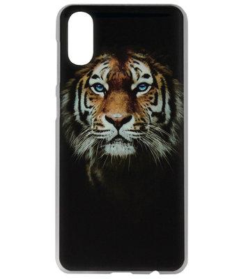 ADEL Kunststof Back Cover Hardcase Hoesje voor Samsung Galaxy A70(s) - Tijger