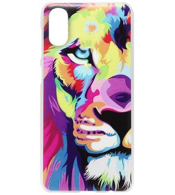 ADEL Kunststof Back Cover Hardcase Hoesje voor Samsung Galaxy A70(s) - Leeuw Kleur