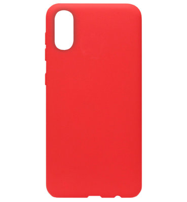 ADEL Siliconen Back Cover Softcase Hoesje voor Samsung Galaxy A70(s) - Rood