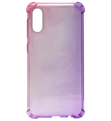 ADEL Siliconen Back Cover Softcase Hoesje voor Samsung Galaxy A70(s) - Kleurovergang Roze en Paars