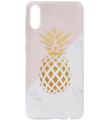 ADEL Siliconen Back Cover Softcase Hoesje voor Samsung Galaxy A70(s) - Ananas