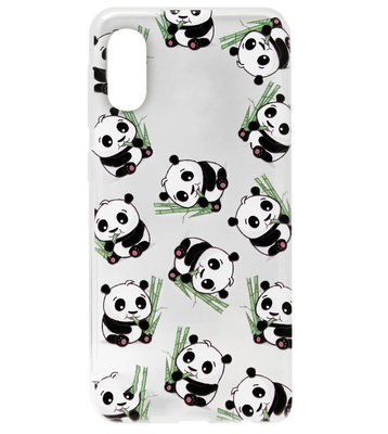 ADEL Siliconen Back Cover Softcase Hoesje voor Samsung Galaxy A70(s) - Panda's