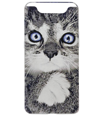 ADEL Siliconen Back Cover Softcase Hoesje voor Samsung Galaxy A80/ A90 - Katten