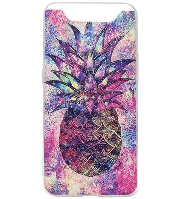 ADEL Siliconen Back Cover Softcase Hoesje voor Samsung Galaxy A80/ A90 - Ananas Kleur