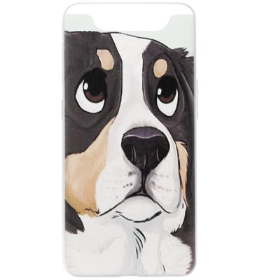 ADEL Siliconen Back Cover Softcase Hoesje voor Samsung Galaxy A80/ A90 - Berner Sennenhond