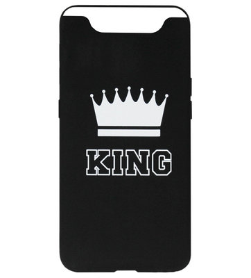 ADEL Siliconen Back Cover Softcase Hoesje voor Samsung Galaxy A80/ A90 - King Zwart