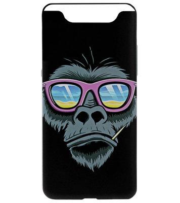 ADEL Siliconen Back Cover Softcase Hoesje voor Samsung Galaxy A80/ A90 - Apen Gorilla