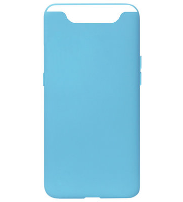ADEL Siliconen Back Cover Softcase Hoesje voor Samsung Galaxy A80/ A90 - Blauw