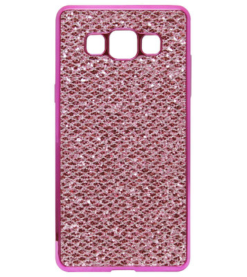 ADEL Siliconen Back Cover Softcase Hoesje voor Samsung Galaxy A5 (2015) - Bling Bling Roze
