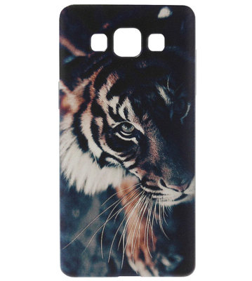 ADEL Siliconen Back Cover Softcase Hoesje voor Samsung Galaxy A5 (2015) - Tijger