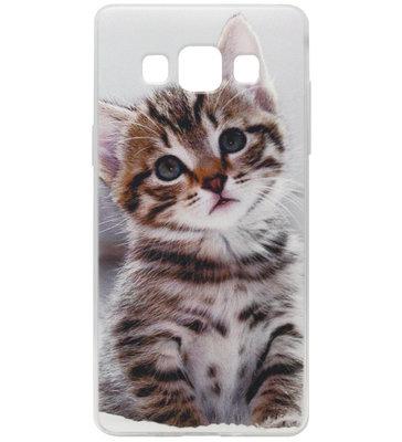 ADEL Siliconen Back Cover Softcase Hoesje voor Samsung Galaxy A5 (2015) - Katten Schattig