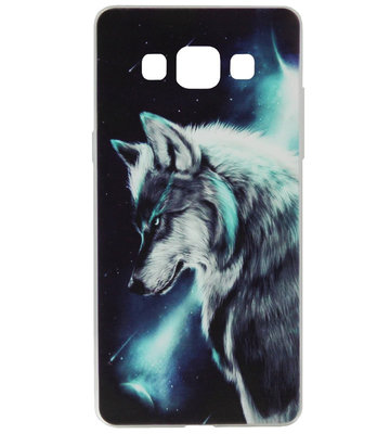 ADEL Siliconen Back Cover Softcase Hoesje voor Samsung Galaxy A5 (2015) - Wolf Blauw