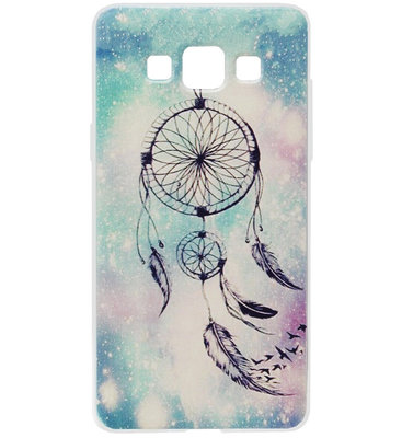 ADEL Siliconen Back Cover Softcase Hoesje voor Samsung Galaxy A5 (2015) - Dromenvanger Blauw