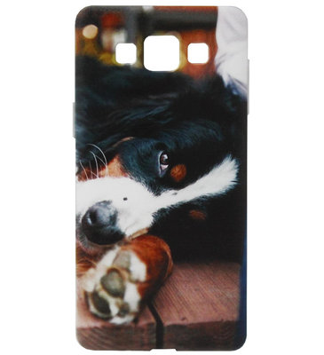 ADEL Siliconen Back Cover Softcase Hoesje voor Samsung Galaxy A5 (2015) - Berner Sennenhond