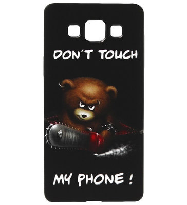 ADEL Siliconen Back Cover Softcase Hoesje voor Samsung Galaxy A5 (2015) - Don't Touch My Phone Beer