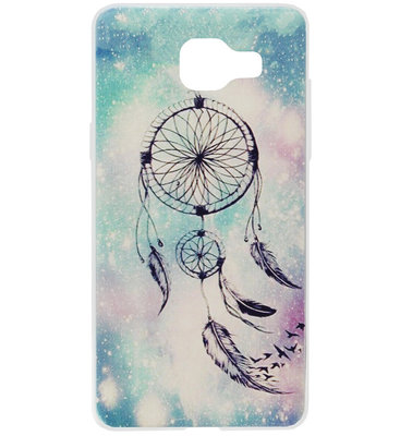 ADEL Siliconen Back Cover Softcase Hoesje voor Samsung Galaxy A3 (2016) - Dromenvanger Blauw