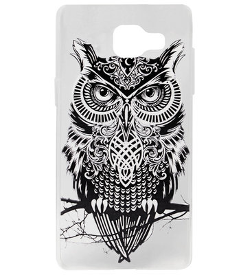 ADEL Siliconen Back Cover Softcase Hoesje voor Samsung Galaxy A3 (2016) - Uil