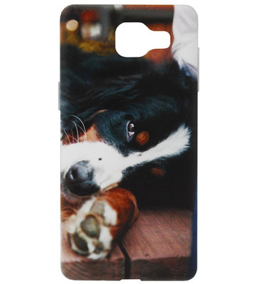 ADEL Siliconen Back Cover Softcase Hoesje voor Samsung Galaxy A3 (2016) - Berner Sennenhond