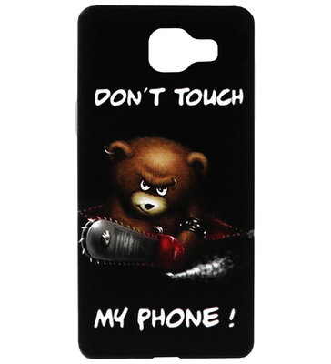 ADEL Siliconen Back Cover Softcase Hoesje voor Samsung Galaxy A3 (2016) - Don't Touch My Phone Beer