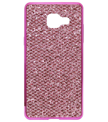 ADEL Siliconen Back Cover Softcase Hoesje voor Samsung Galaxy A3 (2016) - Bling Bling Roze