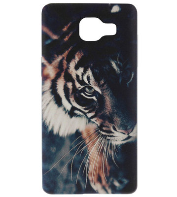 ADEL Siliconen Back Cover Softcase Hoesje voor Samsung Galaxy A3 (2016) - Tijger