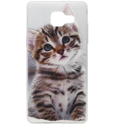 ADEL Siliconen Back Cover Softcase Hoesje voor Samsung Galaxy A3 (2016) - Katten Schattig