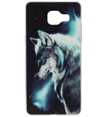 ADEL Siliconen Back Cover Softcase Hoesje voor Samsung Galaxy A3 (2016) - Wolf Blauw