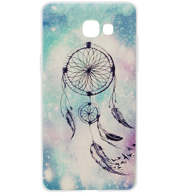 ADEL Siliconen Back Cover Softcase Hoesje voor Samsung Galaxy A3 (2017) - Dromenvanger Blauw