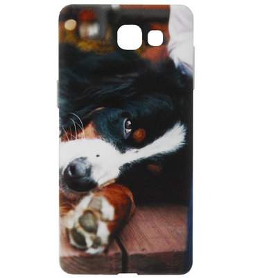 ADEL Siliconen Back Cover Softcase Hoesje voor Samsung Galaxy A3 (2017) - Berner Sennenhond