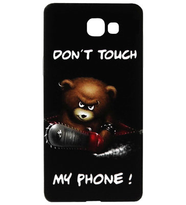 ADEL Siliconen Back Cover Softcase Hoesje voor Samsung Galaxy A3 (2017) - Don't Touch My Phone Beer