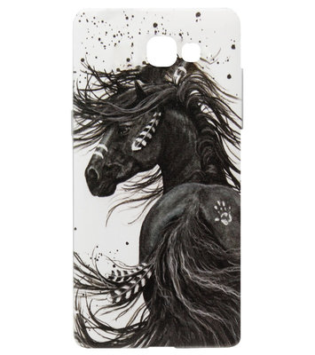 ADEL Siliconen Back Cover Softcase Hoesje voor Samsung Galaxy A5 (2017) - Paard met Veren