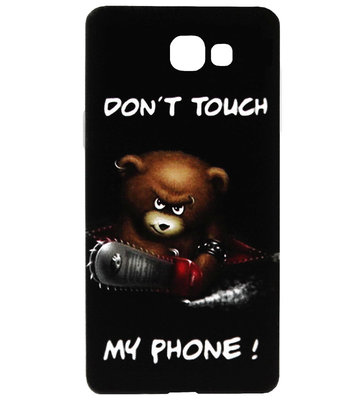 ADEL Siliconen Back Cover Softcase Hoesje voor Samsung Galaxy A5 (2017) - Don't Touch My Phone Beer