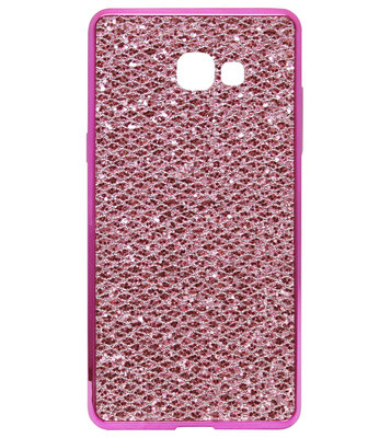 ADEL Siliconen Back Cover Softcase Hoesje voor Samsung Galaxy A3 (2017) - Bling Bling Roze