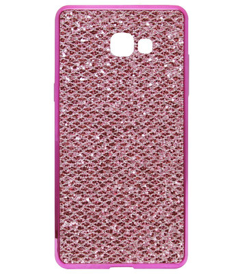 ADEL Siliconen Back Cover Softcase Hoesje voor Samsung Galaxy A5 (2017) - Bling Bling Roze
