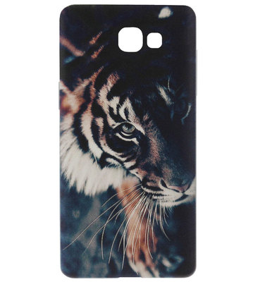 ADEL Siliconen Back Cover Softcase Hoesje voor Samsung Galaxy A5 (2017) - Tijger