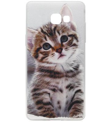 ADEL Siliconen Back Cover Softcase Hoesje voor Samsung Galaxy A5 (2017) - Katten Schattig