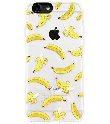 ADEL Siliconen Back Cover Softcase Hoesje voor iPhone SE (2020)/ 8/ 7 - Bananen