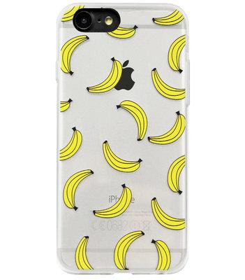 ADEL Siliconen Back Cover Softcase Hoesje voor iPhone SE (2020)/ 8/ 7 - Bananen Geel