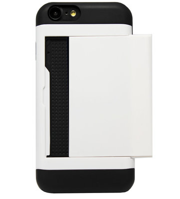 ADEL Kunststof Back Cover Hardcase Hoesje voor iPhone SE (2020)/ 8/ 7 - Pasjeshouder Wit