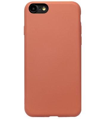ADEL Premium Siliconen Back Cover Softcase Hoesje voor iPhone SE (2020)/ 8/ 7 - Oranje