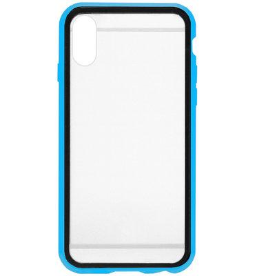 ADEL Magnetisch Kunststof 360 graden Full Body Cover Hoesje voor iPhone XS/ X - Blauw