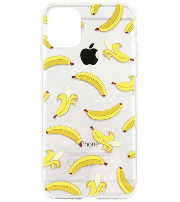 ADEL Siliconen Back Cover Softcase Hoesje voor iPhone 11 Pro - Bananen
