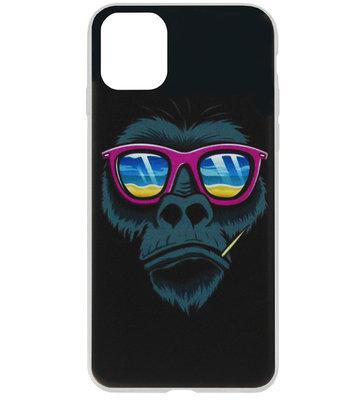 ADEL Siliconen Back Cover Softcase Hoesje voor iPhone 11 - Apen Gorilla