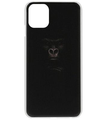 ADEL Kunststof Back Cover Hardcase Hoesje voor iPhone 11 - Apen Gorilla