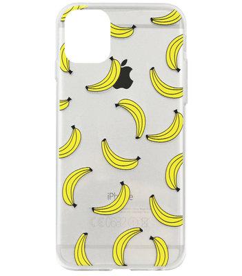 ADEL Siliconen Back Cover Softcase Hoesje voor iPhone 11 - Bananen Geel