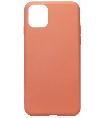 ADEL Premium Siliconen Back Cover Softcase Hoesje voor iPhone 11 - Oranje