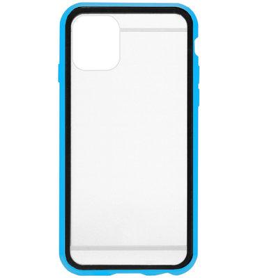 ADEL Magnetisch Kunststof 360 graden Full Body Cover Hoesje voor iPhone 11 Pro - Blauw